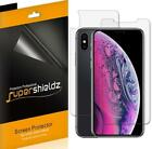 """Supershieldz Clear Screen Protector for iPhone XS Max -6.5"""" (3 Front + 3 Back)"""