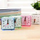 Small Cute Bed Compact Travel Quartz Beep Cute New Square Analog Alarm Clock