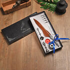 Turkey Ancient Feather Pen Present Ink Fountain Quill Gothic Print Ballpoint Set
