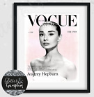 Audrey Hepburn Fashion Vogue Art, Fashion Wall Art, Vogue Cover, Vogue print