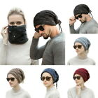 Unisex  Knitted Horsetail Hats Cable Knit Slouchy  Trendy Soft Warm Cap