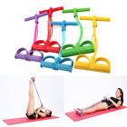 Foot Pedal Pull Rope Resistance Exercise 4-Tube Yoga Equipment Sit-up Fitness image