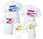 Baby Shark T shirt Family Birthday Matching Party Celebration Kid Mommy, dadddy