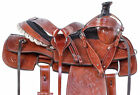 Used Western Saddle Western Team Roper Trail Ranch Work Leather Horse Tack 15 16