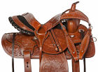 Used Ranch Saddle 16 15 Western Team Roping Trail Work Leather Horse Tack Set