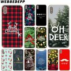 Christmas N4345 Case For iPhone 7 Plus 6 8 6S 5S X XS Max Cover Back Phone