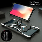 For iPhone 6s 7/8+ X XR/XS Anti-fall Aluminum Metal Frame Hard Back Case Cover
