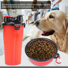 2 in 1 Dog Drinking Water Bottle with Bowl Pet Outdoor Pet Drinking Food Bottle
