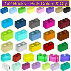 Внешний вид - 100% Lego 1x2 Bricks Various Colors Blue Red White Yellow Green Orange Gray Pink