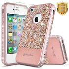 For iPhone 4 / 4s Case | Glitter Shockproof Hybrid Bling Cover +Screen Protector