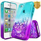 For Apple iPhone 4 / 4s | Glitter Liquid Bling Cute Girl Phone Cover Case