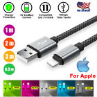 US Braided Micro USB Cable High Speed Charging Data Sync Fast Charger For iPhone