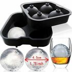 4 Balls Silicone Ice Cube Tray Whiskey Maker Mold Sphere Mold Party Round Bar