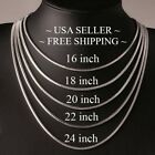 """High Quality .925 Sterling Silver Snake Chain Necklace - 2mm 16"""" 18"""" 20"""" 22"""" 24"""""""