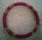 Red statement bead ethnic braclet / bangle
