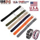 18mm 20mm 22mm Ballistic Durable Nylon Military Nylon Wrist Watch Band Straps US image