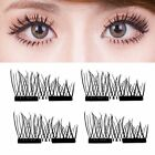 Magnetic 3D Eyelashes Reusable Long False Eye Lashes Makeup Extension 2-200PaJ# günstig