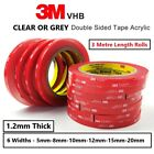 3M VHB DOUBLE SIDED TAPE ROLL VERY STRONG SELF ADHESIVE STICKY TAPE CLEAR & GREY <br/> ON A ROLL OR STICKY PADS ✅ CLEAR OR GREY ✅ FREE POSTAGE