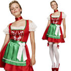 Ladies Christmas Dirndl Outfit Fancy Dress Costume