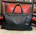 Tumi Astor San Remo Duffel Black Leather Bag Carry-on 93149D