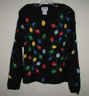PBJ SPORT Womens LARGE / L 3D Lights Santa Elf UGLY CHRISTMAS Cardigan Sweater