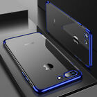 Luxury Ultra Slim Shockproof Silicone Clear Case Cover For Apple iPhone 6s 6 <br/> Metallic Edge Clear Case - Great Case - Limited Offer