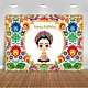 Mehofoto Mexican Frida Kahlo Backdrop Mexican Theme Frida Birthday Party 7x5ft