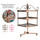 96 Holes Retro Metal Rotating Jewelry Display Stand Earring Necklace Hook Holder