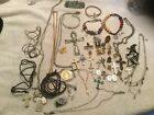 Lot Religious Crosses Angels Medals Costume Jewelry Necklaces Bracelets Pins