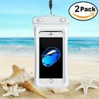 2x For iPhone X 8 Plus Samsung Waterproof Pouch Phone Dry Bag Case Cover Float