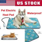 US Pet Electric Heating Mat Winter Warming Blanket Heater Pad Dog Cat Warmer Bed