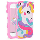 3D Cartoon Silicone Rubber Kids Gift Case Cover For iPhone 5S 5C SE 6S Touch 5 6