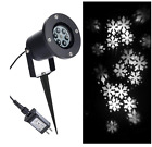 Outdoor Chritsmas Decorations LED Snowflake Projector Lights White Holiday