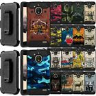 For Motorola Moto E4 Plus - Shock Combat Holster Bumper Case with Stand