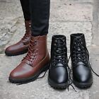 Men's Lace Up Casual Comfort Retro Ankle Boots Military Flat Comfy Combat Shoes
