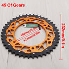 UK CNC 45T Rear Chain Sprocket For KTM SX XC MXC EXCF SXF LC4 SMC Rallye Enduro