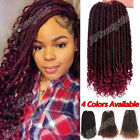 Soft Faux Locs Curly Crochet Braids Goddess Hairstyle Synthetic Hair Extensions
