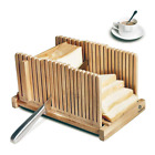 Electric Slicers Bamboo Bread Guide, Foldable Wooden Toast Cutting With 3 Sizes