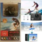 Action Camera, 12MP 1080P 2 Inch LCD Screen,Waterproof Sports Cam 120 Degree NEW