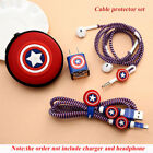 iPhone 5 6 7 8 X USB Cable Earphone Protector Set Winder Spiral Cord Stickers
