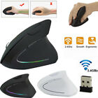 Mouse senza fili wireless 2.4GHz Design ergonomico Mouse verticale 1600DPI USB