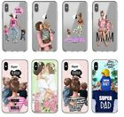 Brown Hair Baby Mom Girl Queen Phone Case iPhone XS Max XR X 8 7 6 Plus Samsung
