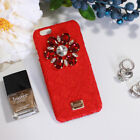 Luxury Lace Fabric Cover Diamond Drill Flower Case iPhone S 6 7 8 plus X XR XS