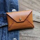 Unisex Coin Purse Genuine Leather Vegetable Tanned Handmade Coins Pack Retro