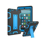Shockproof Hybrid Rubber Holder Tablet Case for Amazon Fire 7 HD8 2015 2016 2017