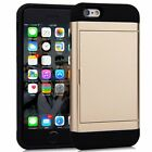 Slim Wallet Case Soft TPU Rubber Cover with Hybrid Card Holder for iPhone