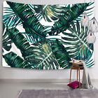 Palm Leaf Tapestry Art Wall Hanging Green Plant Bedspread Room Home Wall Decor
