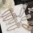 Women's Luxury Shiny Crystal Pearl Hair Clip Barrette Hairpin Accessories Gift