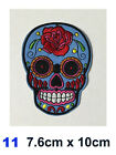 Mexican Sugar Skull DAY of The DEAD Embroidered Patch Iron On did de los muertos