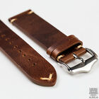 Camel Light Brown Genuine Leather Vintage Style Watch Strap 20mm & 22mm image